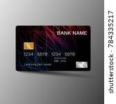 modern credit card template...   Shutterstock .eps vector #784335217