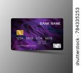 modern credit card template...   Shutterstock .eps vector #784335253