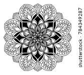 mandalas for coloring book.... | Shutterstock .eps vector #784349287
