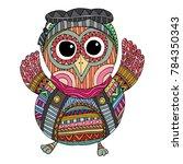 owls vector  owls illustration... | Shutterstock .eps vector #784350343