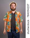studio shot of young bearded... | Shutterstock . vector #784354237
