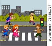 road safety for children... | Shutterstock .eps vector #784381717