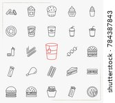 fast food line icons set | Shutterstock .eps vector #784387843