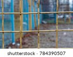 steel yellow nets or mesh with...   Shutterstock . vector #784390507
