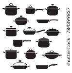 vector set of kitchen utensils. ... | Shutterstock .eps vector #784399837