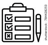 line icon design of a clipboard ... | Shutterstock .eps vector #784428253