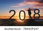 silhouette freedom man standing ... | Shutterstock . vector #784429147