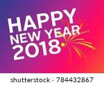 happy fitness new year | Shutterstock . vector #784432867