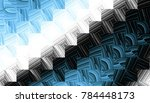 abstract digital fractal... | Shutterstock . vector #784448173