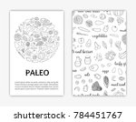 card templates with hand drawn... | Shutterstock .eps vector #784451767