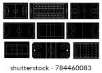 set of sport field. handball ... | Shutterstock .eps vector #784460083