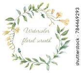 floral wreath. botanical... | Shutterstock . vector #784469293