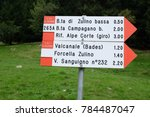 signage in the mountains... | Shutterstock . vector #784487047