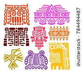american indians ancient totems ... | Shutterstock . vector #784494487
