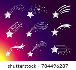 white stars with tails or... | Shutterstock . vector #784496287
