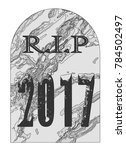 a typical gravestone with the... | Shutterstock .eps vector #784502497