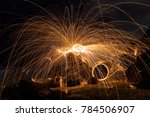 steel wool spin from the top of ... | Shutterstock . vector #784506907