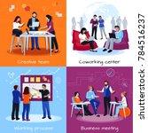 coworking people 2x2 design... | Shutterstock . vector #784516237