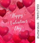 happy valentines day romantic... | Shutterstock .eps vector #784517353
