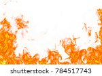 fire flames isolated on white... | Shutterstock . vector #784517743