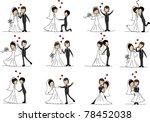 cartoon wedding pictures | Shutterstock .eps vector #78452038