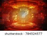 2d illustration question mark   Shutterstock . vector #784524577