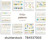 patterns set hand drawn elements | Shutterstock .eps vector #784537003