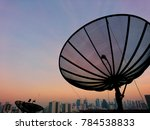 satellite dish with sky sunset...   Shutterstock . vector #784538833