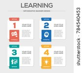 learning infographic icons | Shutterstock .eps vector #784540453