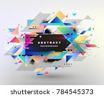 abstract fantastic background ... | Shutterstock .eps vector #784545373