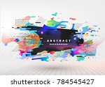 abstract fantastic background ... | Shutterstock .eps vector #784545427
