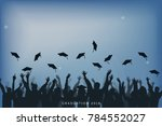 education and people concept ... | Shutterstock .eps vector #784552027