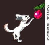 cartoon little fox with big...   Shutterstock .eps vector #784552927
