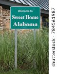 Small photo of Welcome to Alabama Sign at interstate visitor center