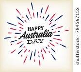 australia day   26 january  ... | Shutterstock .eps vector #784567153