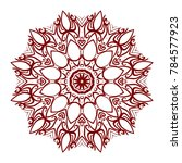 abstract flower design mandala. ... | Shutterstock .eps vector #784577923