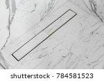 ractangle line floor drain... | Shutterstock . vector #784581523