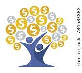 icon illustrations for money... | Shutterstock .eps vector #784586383
