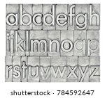 lowercase english alphabet  in... | Shutterstock . vector #784592647
