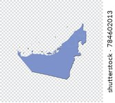 united arab emirates map   high ... | Shutterstock .eps vector #784602013