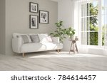 idea of white room with sofa... | Shutterstock . vector #784614457
