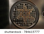 a very dirty fan behind a round ... | Shutterstock . vector #784615777