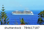 a large cruise ship on the... | Shutterstock . vector #784617187
