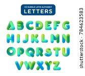 soft bubble 3d alphabet on a... | Shutterstock .eps vector #784623583