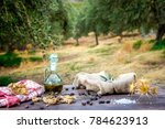bowl and bottle with extra...   Shutterstock . vector #784623913