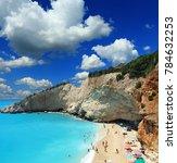 porto katsiki beach at lefkada... | Shutterstock . vector #784632253
