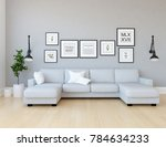 idea of a white scandinavian... | Shutterstock . vector #784634233