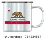 a typical blue coloured tin cup ...   Shutterstock .eps vector #784634587