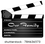 a typical movie clapperboard...   Shutterstock .eps vector #784636573