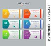infographics design template 3d ... | Shutterstock .eps vector #784641637